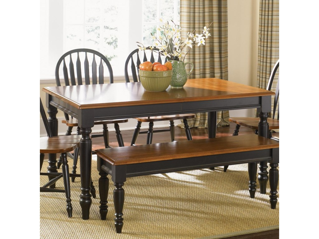 Low Country Rectangular Dining Table With Turned Legs By Liberty Furniture At Novello Home Furnishings