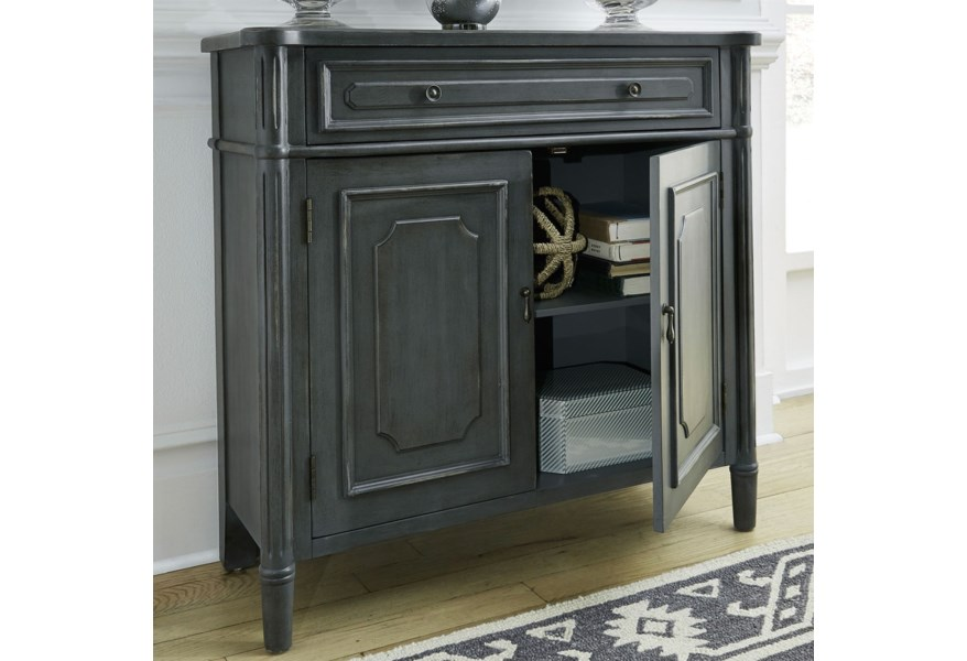 Liberty Furniture Madison Park Relaxed Vintage 1 Drawer 2 Door Accent Cabinet With Wood Detailing Zak S Home Accent Chests