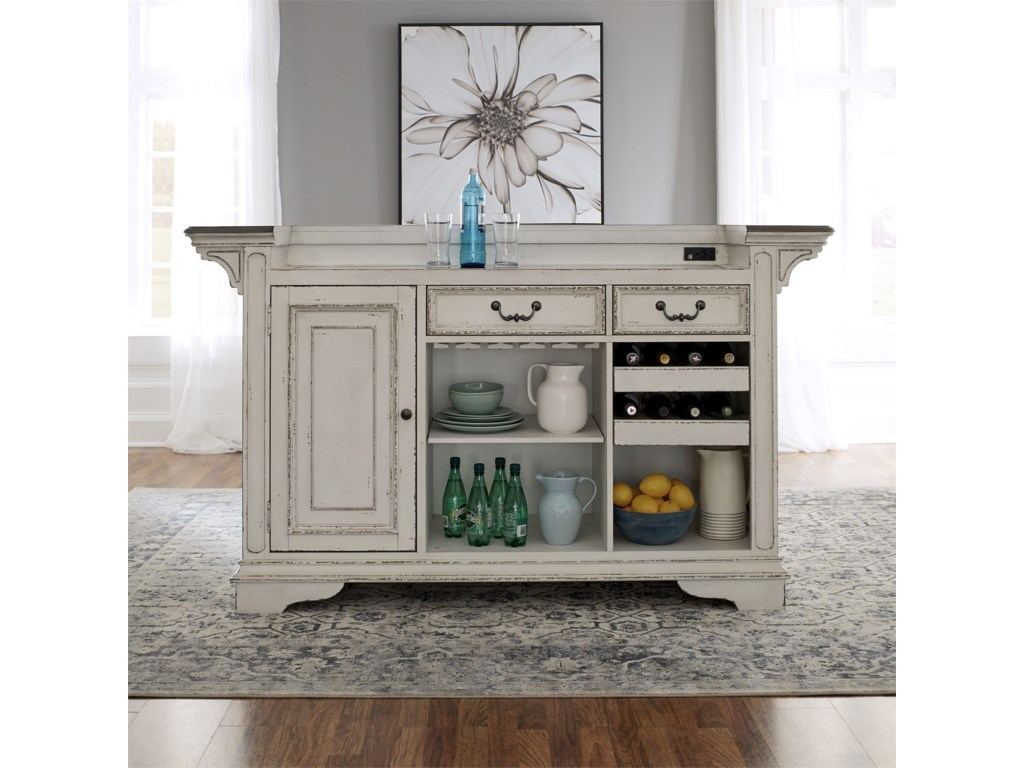 Liberty Furniture Magnolia Manor DiningBar with Marble Top