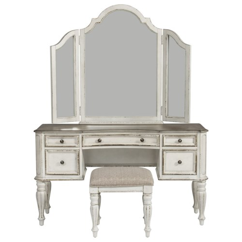 Liberty Furniture Magnolia Manor Bedroom Vanity Set - Wayside ...
