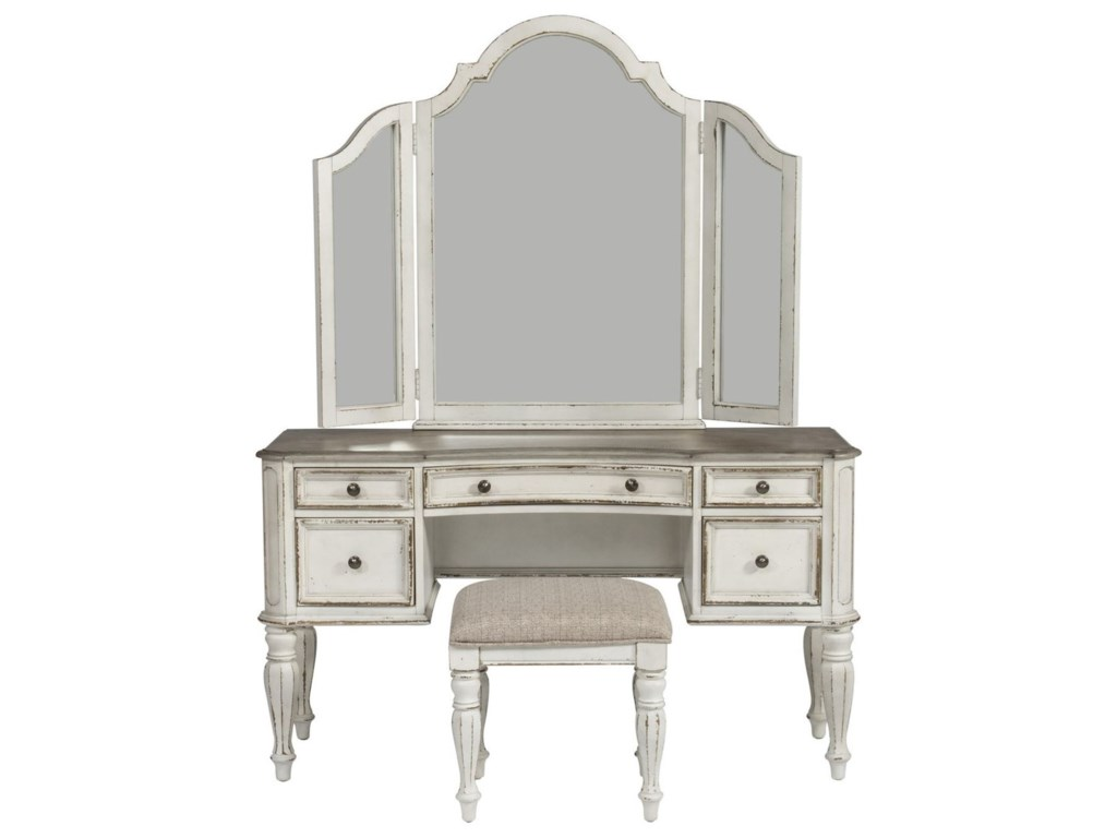 Liberty Furniture Magnolia Manor Bedroom Vanity Set | Royal ...