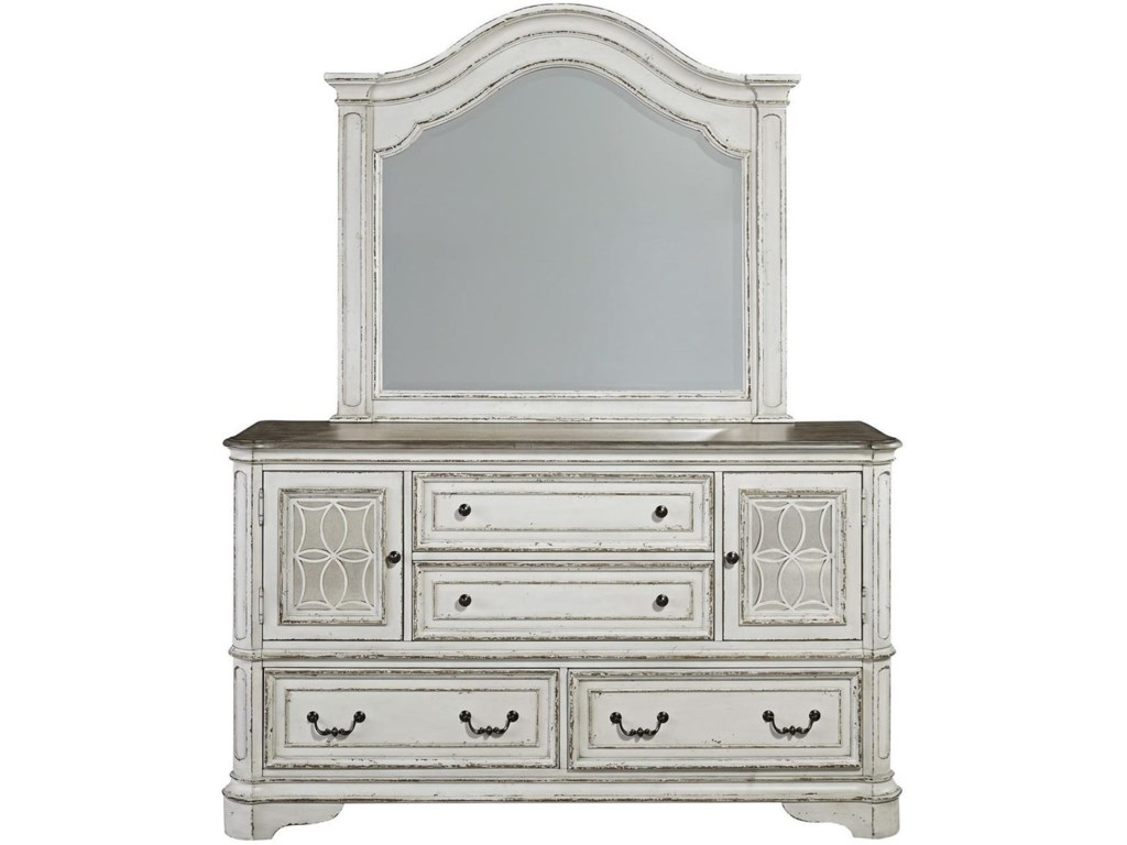 Liberty Furniture Magnolia ManorDresser & Mirror