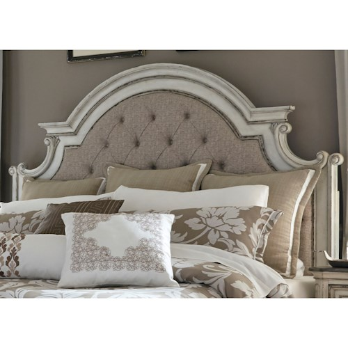 Liberty Furniture Magnolia Manor King Upholstered Panel Headboard