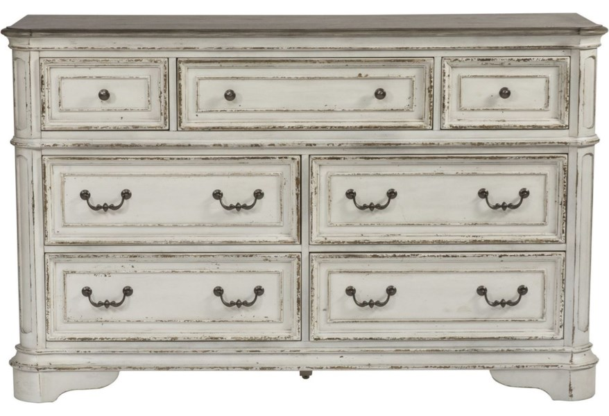 Magnolia Manor 7 Drawer Dresser with Felt-Lined Top Drawers by Liberty on