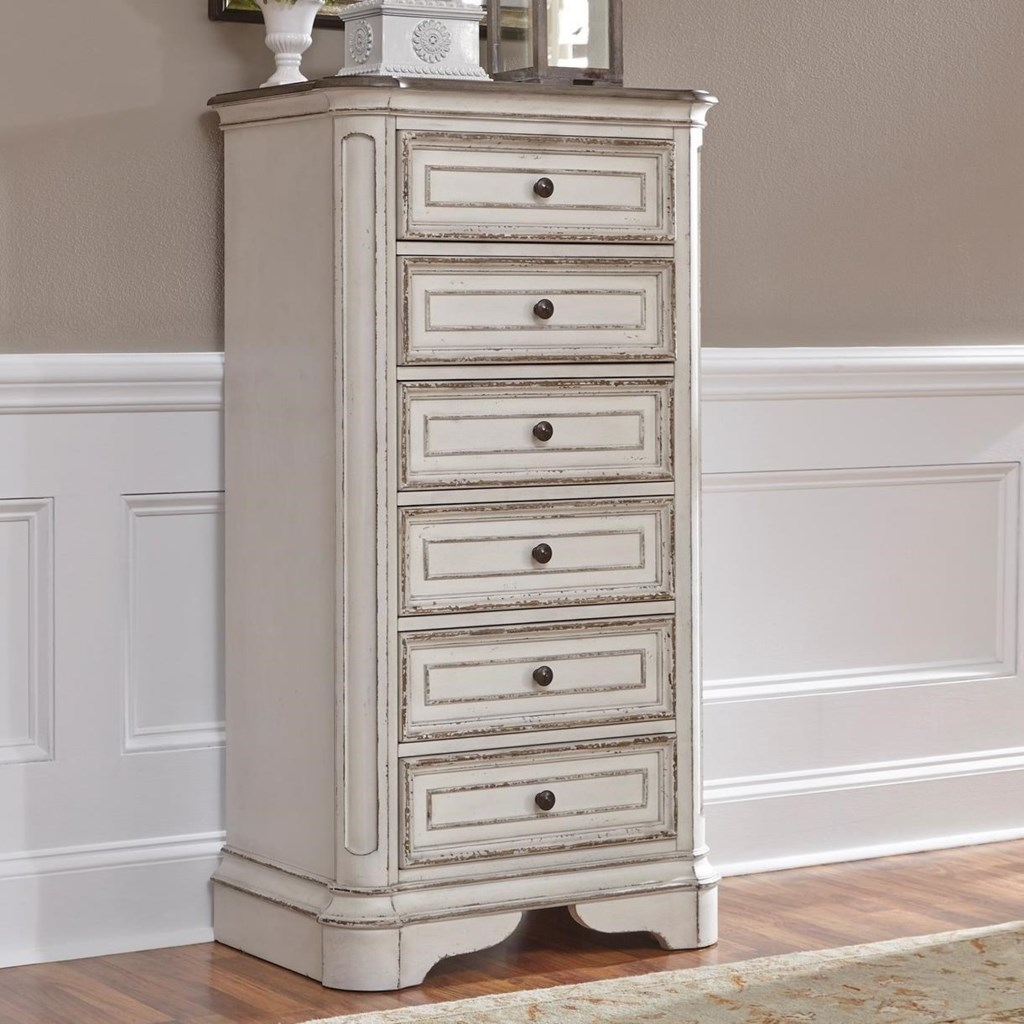 liberty furniture magnolia manor 244-br43 6 drawer lingerie chest