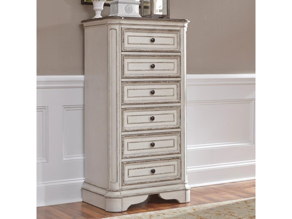 Liberty Furniture Magnolia Manor 6 Drawer Lingerie Chest With Felt