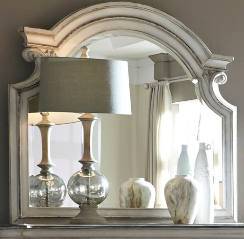 Liberty Furniture Magnolia Manor Mirror with Wood Frame