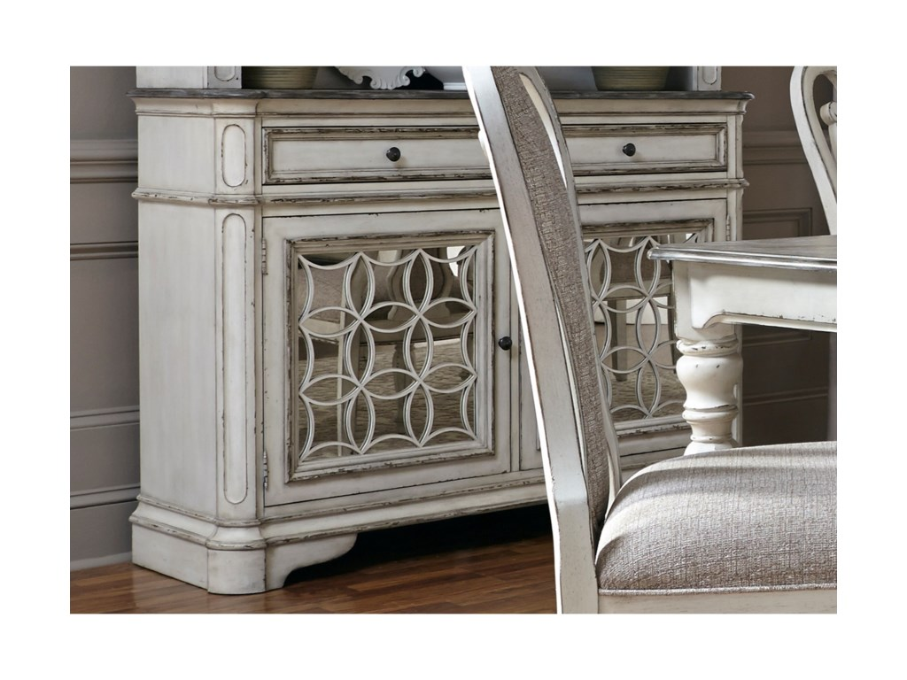 Liberty Furniture Magnolia Manor Dining Dining Buffet With Felt