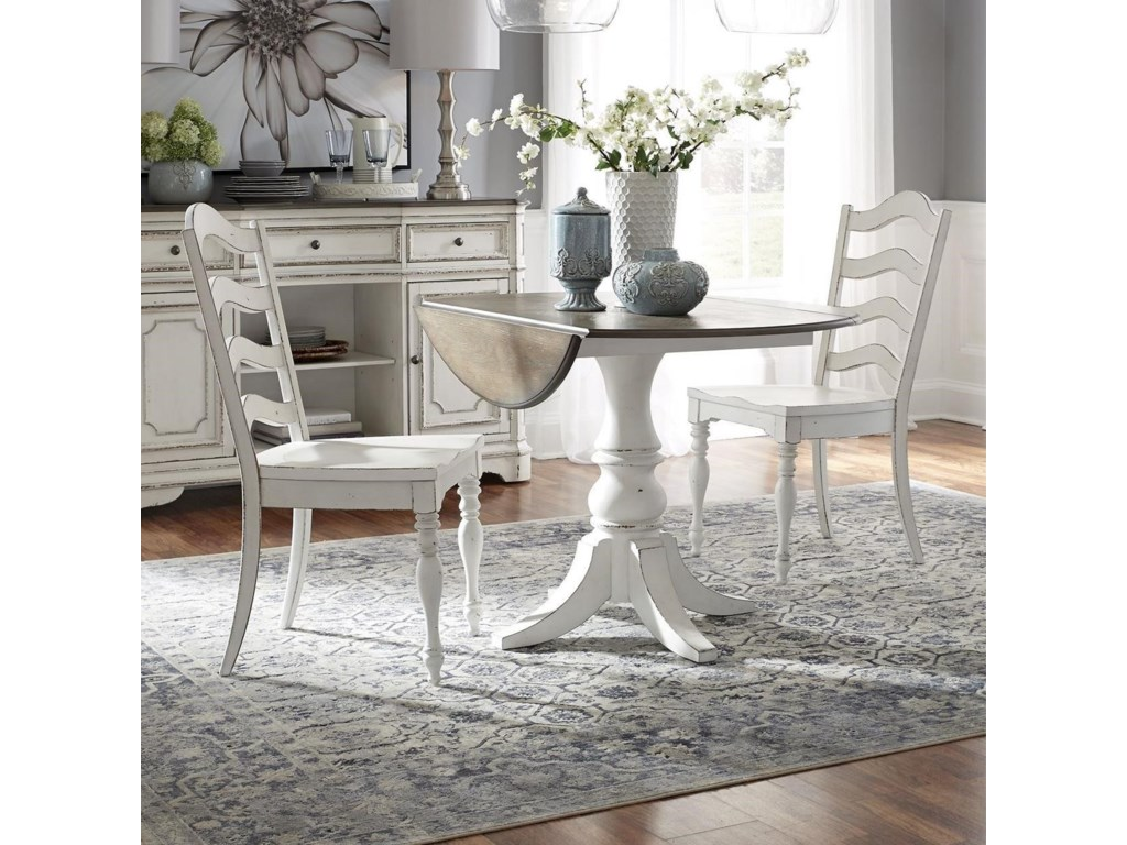 Liberty Furniture Magnolia Manor Dining3 Piece Table and Chair Set