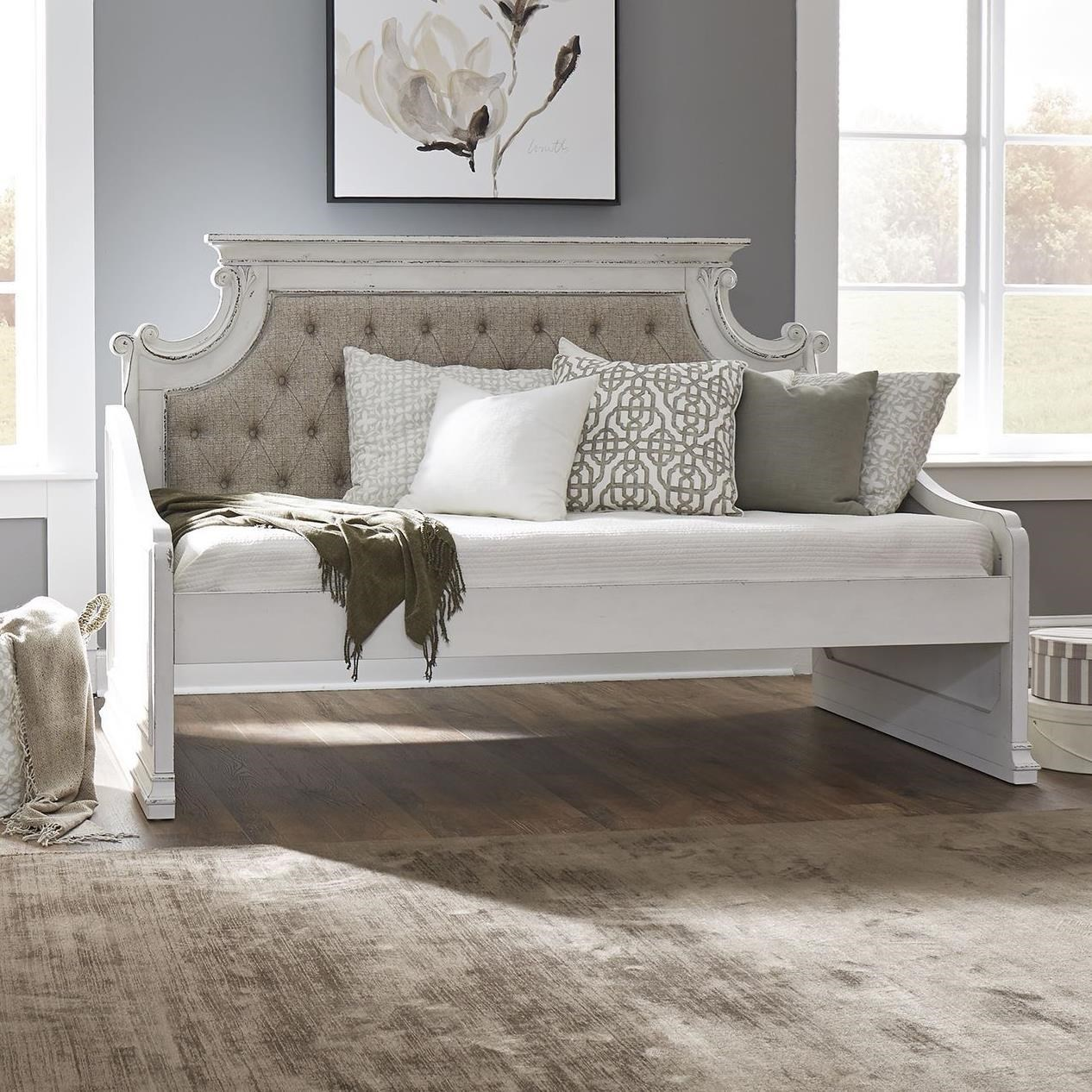 Twin Daybed with Tufted Upholstered Back