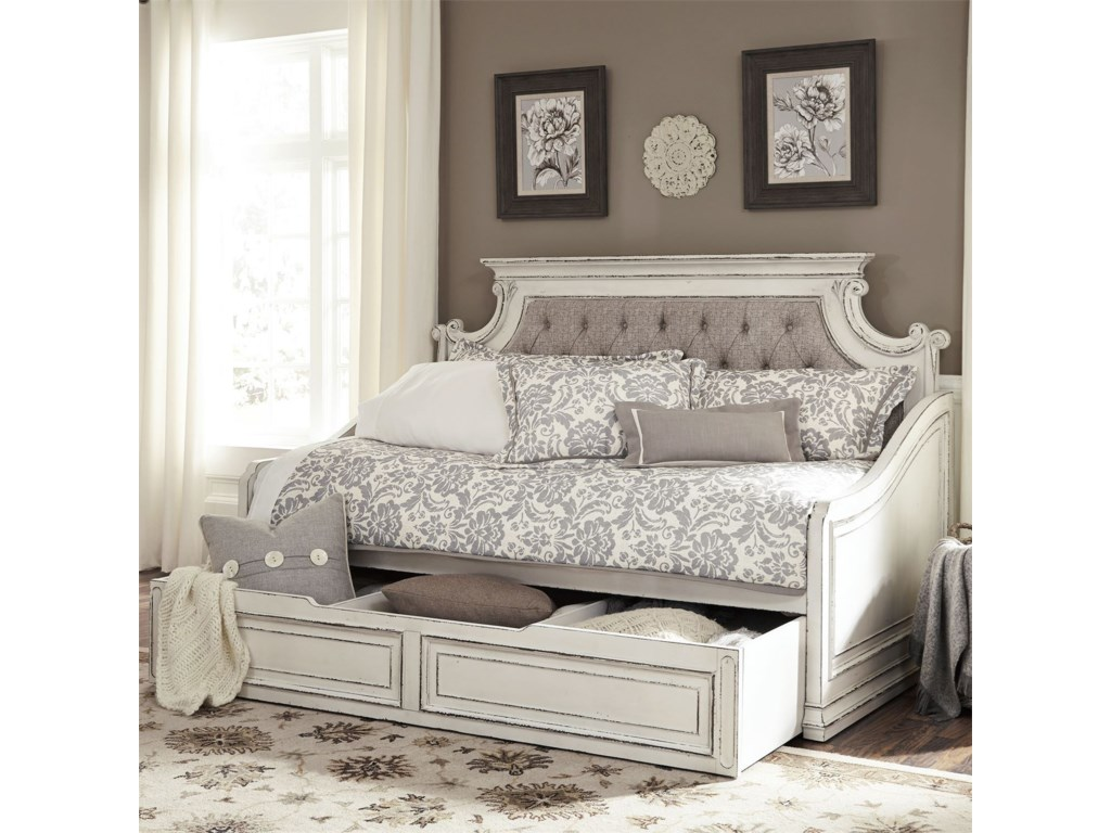 Liberty Furniture Magnolia ManorTwin Upholstered Trundle Daybed