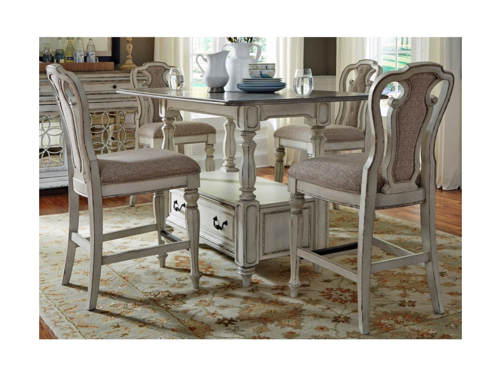 Liberty Furniture Magnolia Manor DiningGathering Table and Chair Set