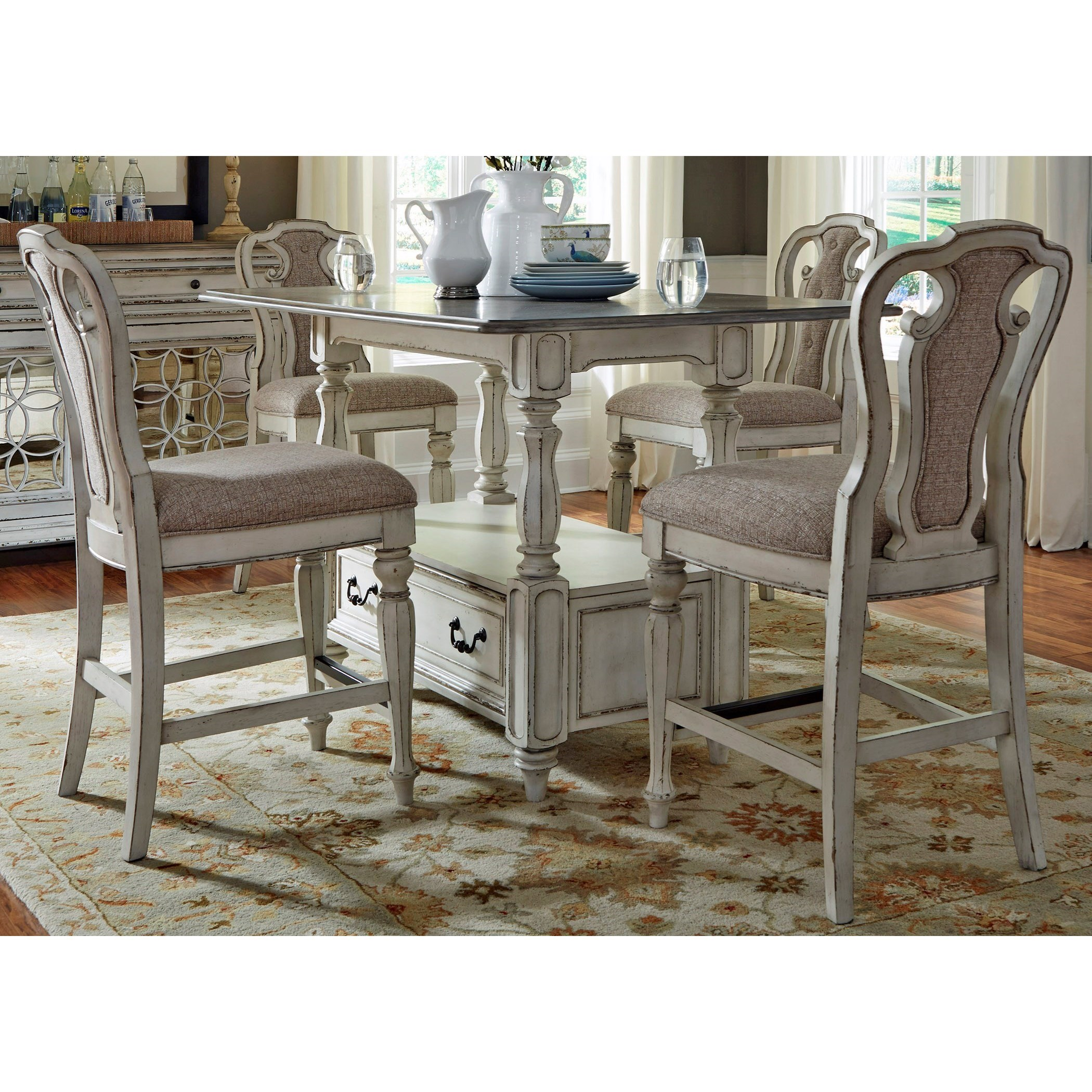 Liberty Furniture Magnolia Manor DiningGathering Table and Chair Set  sc 1 st  Hudsonu0027s Furniture & Liberty Furniture Magnolia Manor Dining 244-DR-5GTS Rectangular ...