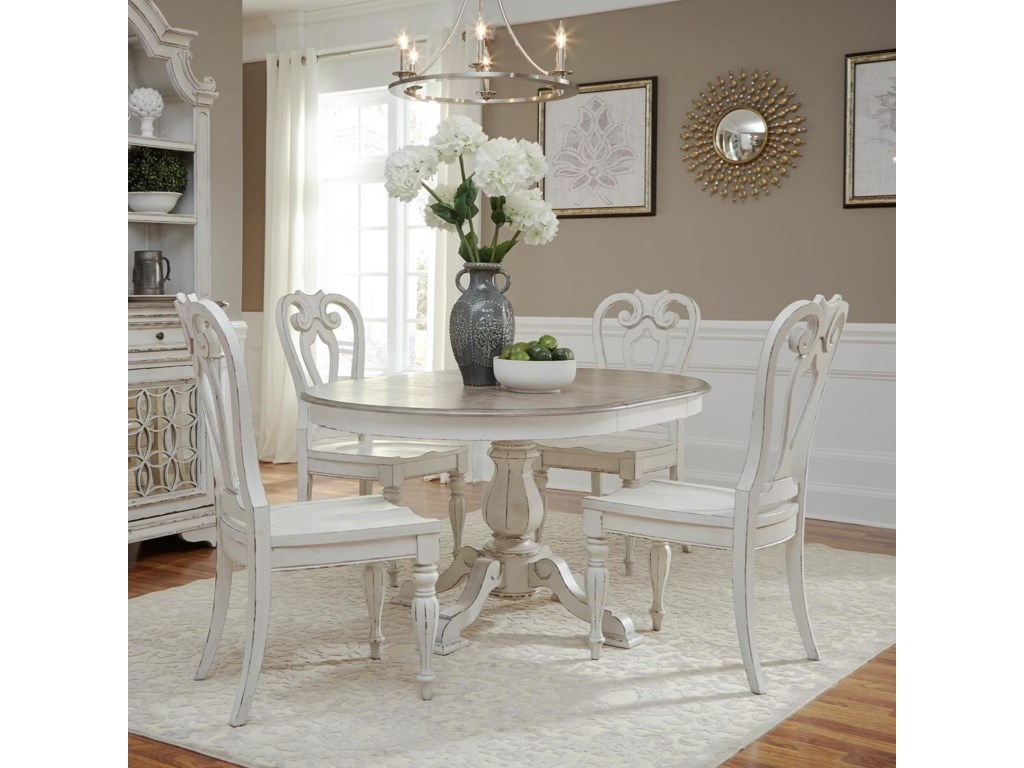 Magnolia Manor Dining Traditional Five Piece Chair and Table Set by Liberty  Furniture at Johnny Janosik