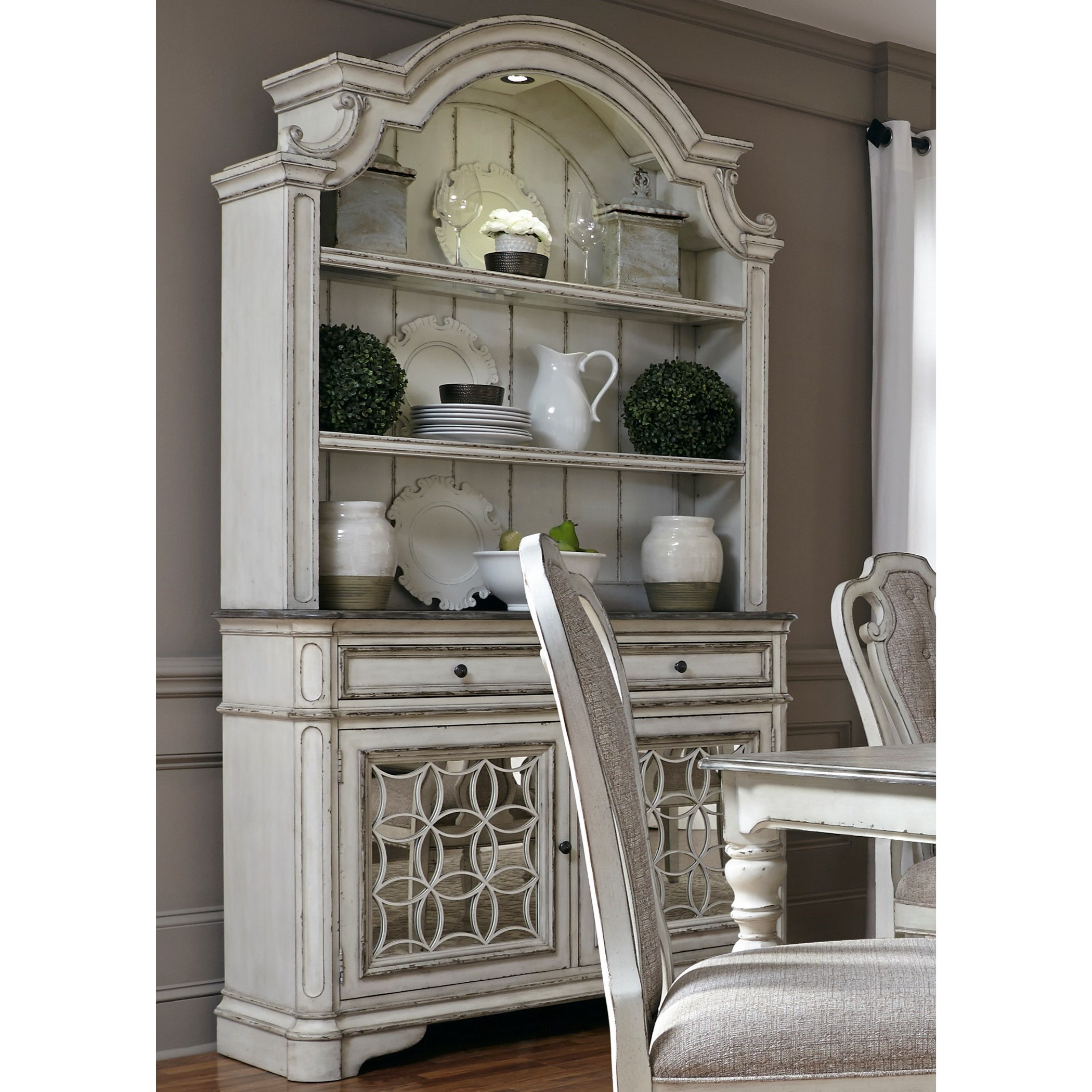 dining buffet and hutch cheap kitchen liberty furniture magnolia manor dining buffet and hutch with touch lighting