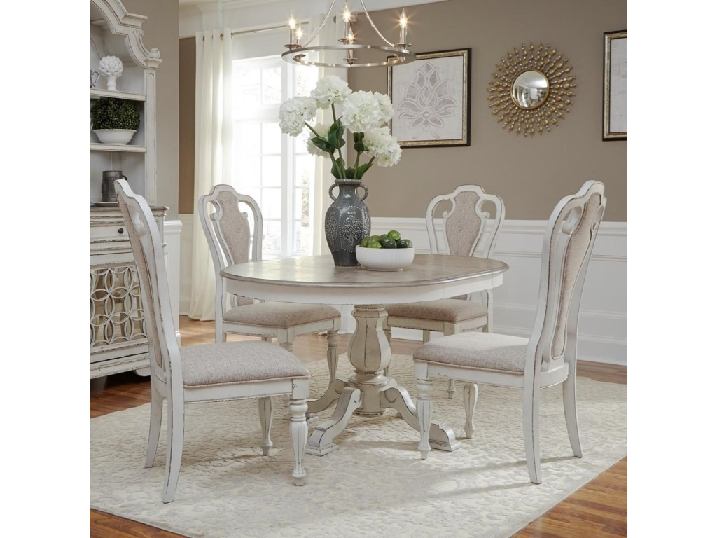 Liberty Furniture Magnolia Manor Dining5 Piece Chair & Table Set