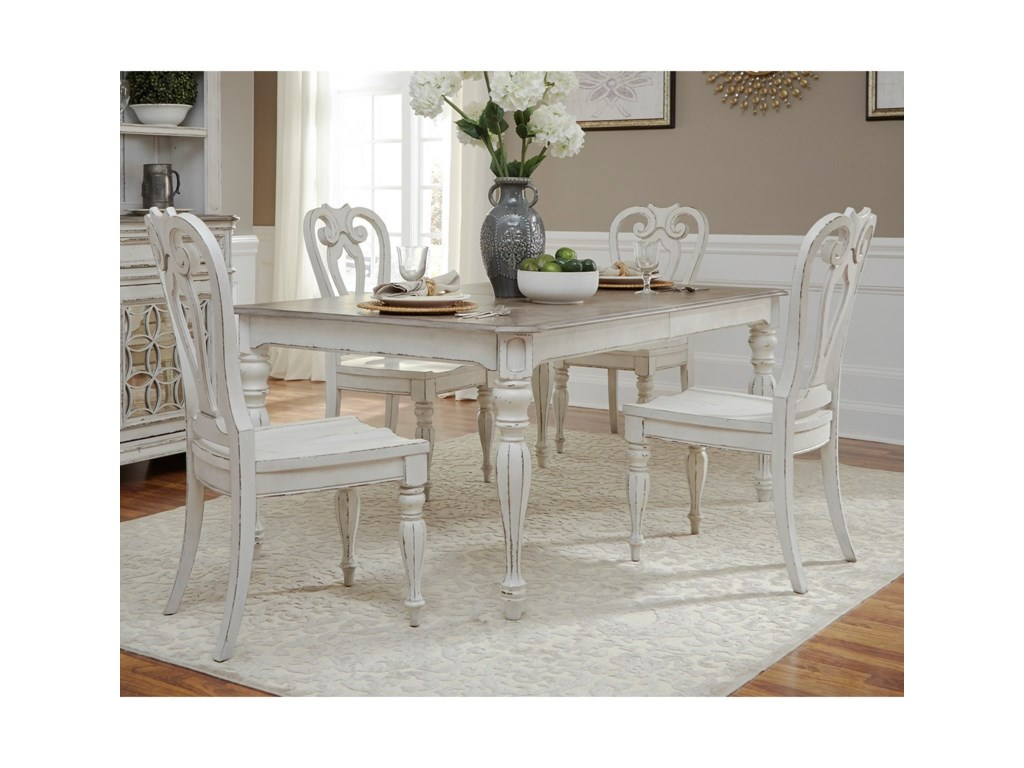 Liberty Furniture Magnolia Manor DiningOpt 5 Piece Rectangular Table Set