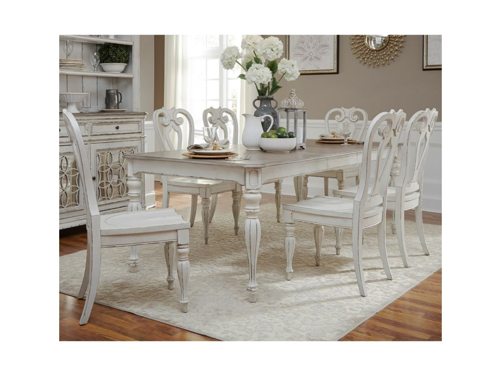 Liberty Furniture Magnolia Manor DiningOpt 7 Piece Rectangular Table Set