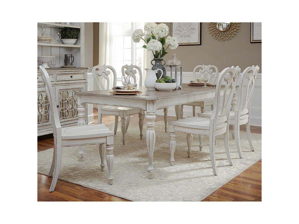 Liberty Furniture Magnolia Manor DiningOpt 7 Piece Rectangular Table Set