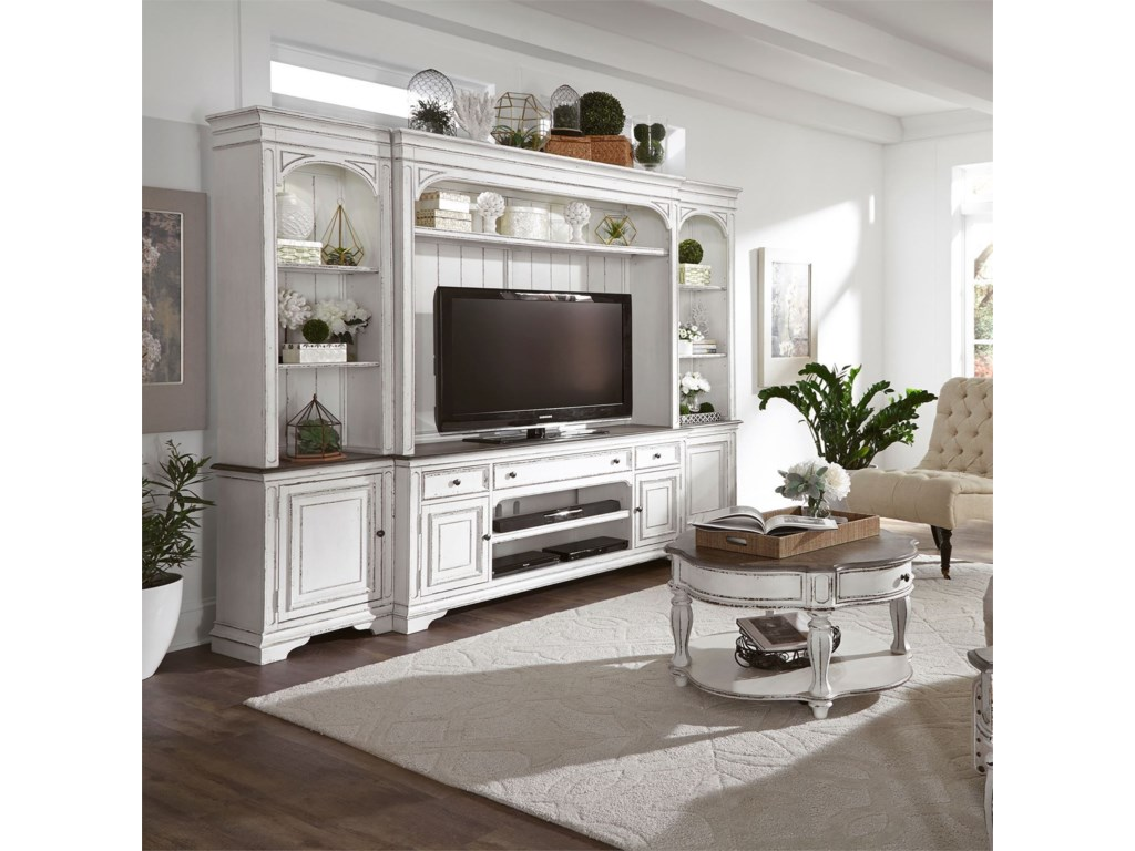 Liberty Furniture Magnolia Manor4 Pc Entertainment Wall Unit