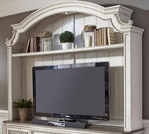 Liberty Furniture Magnolia Manor Entertainment Hutch with Shelf ...