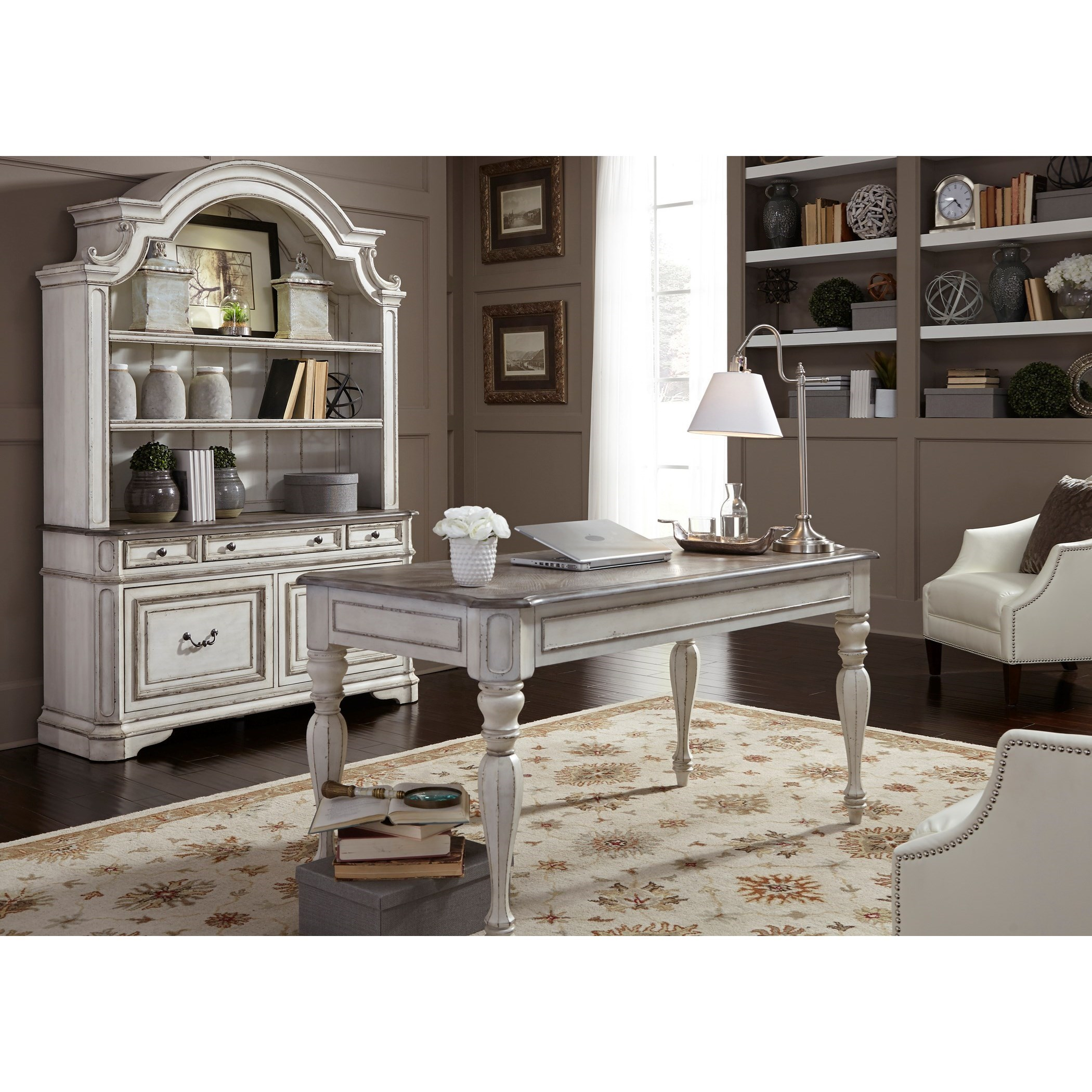 Charmant Liberty Furniture Magnolia Manor Office Desk And Hutch Set