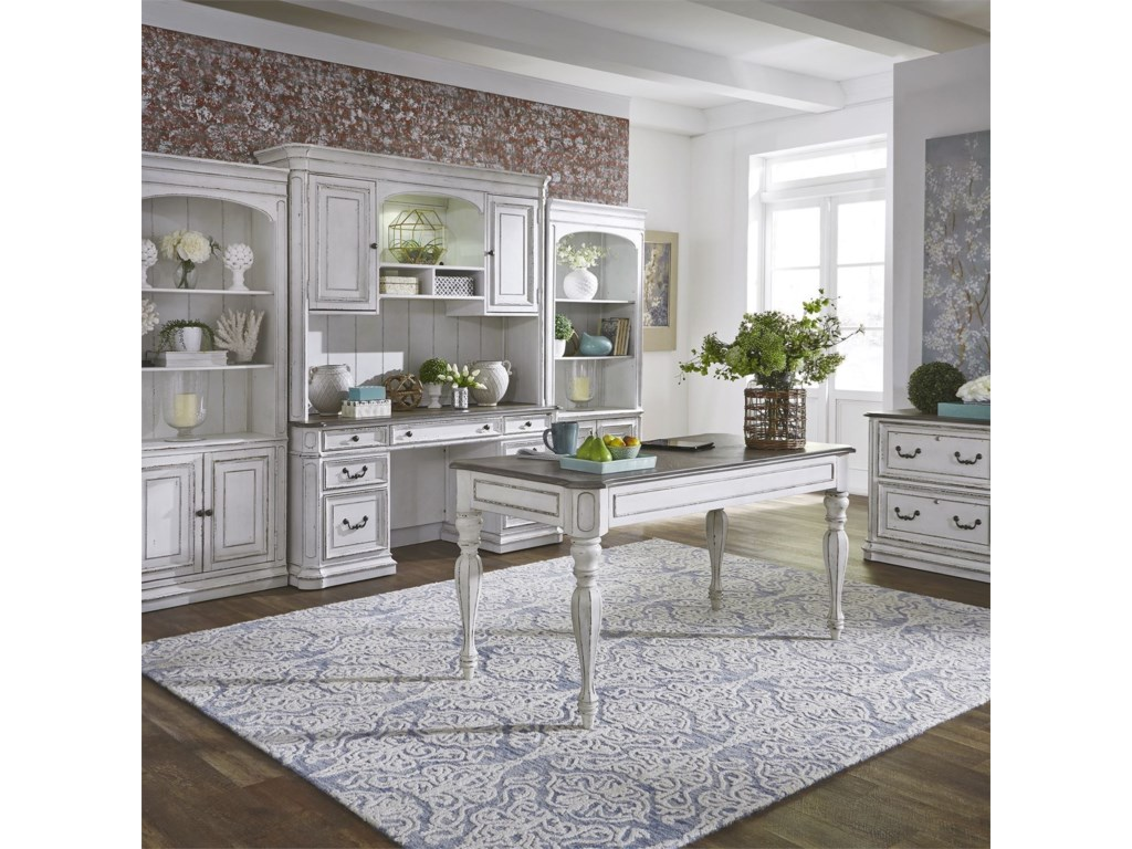 Liberty Furniture Magnolia Manor OfficeCredenza and Hutch