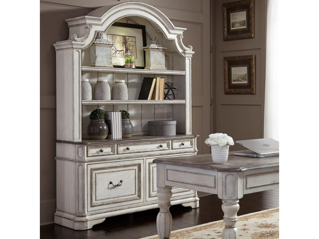 Liberty Furniture Magnolia Manor Office Credenza And Hutch With
