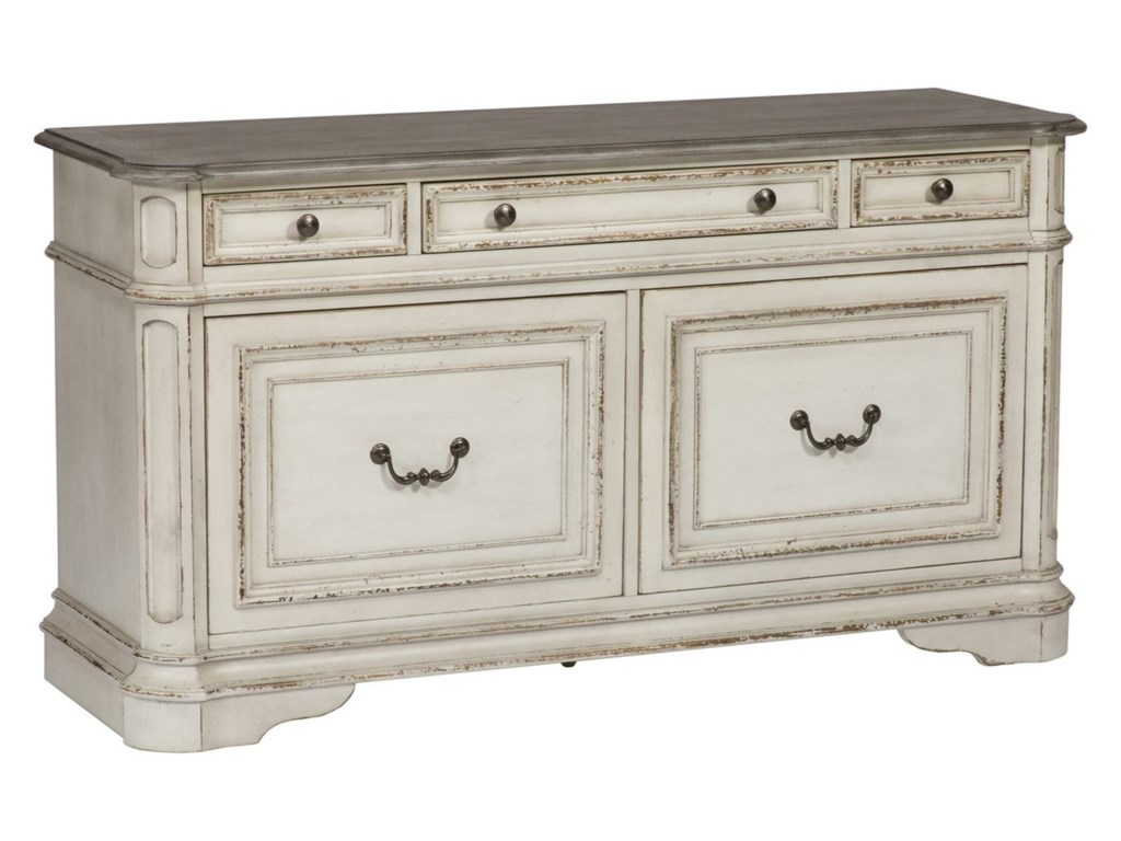 Liberty Furniture Magnolia Manor Office5 Drawer Credenza