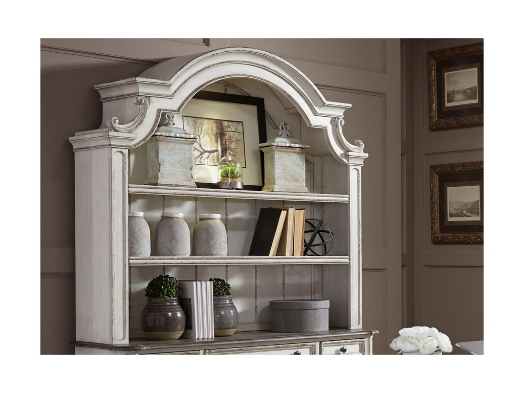 liberty furniture magnolia manor officecredenza hutch - Magnolia Office