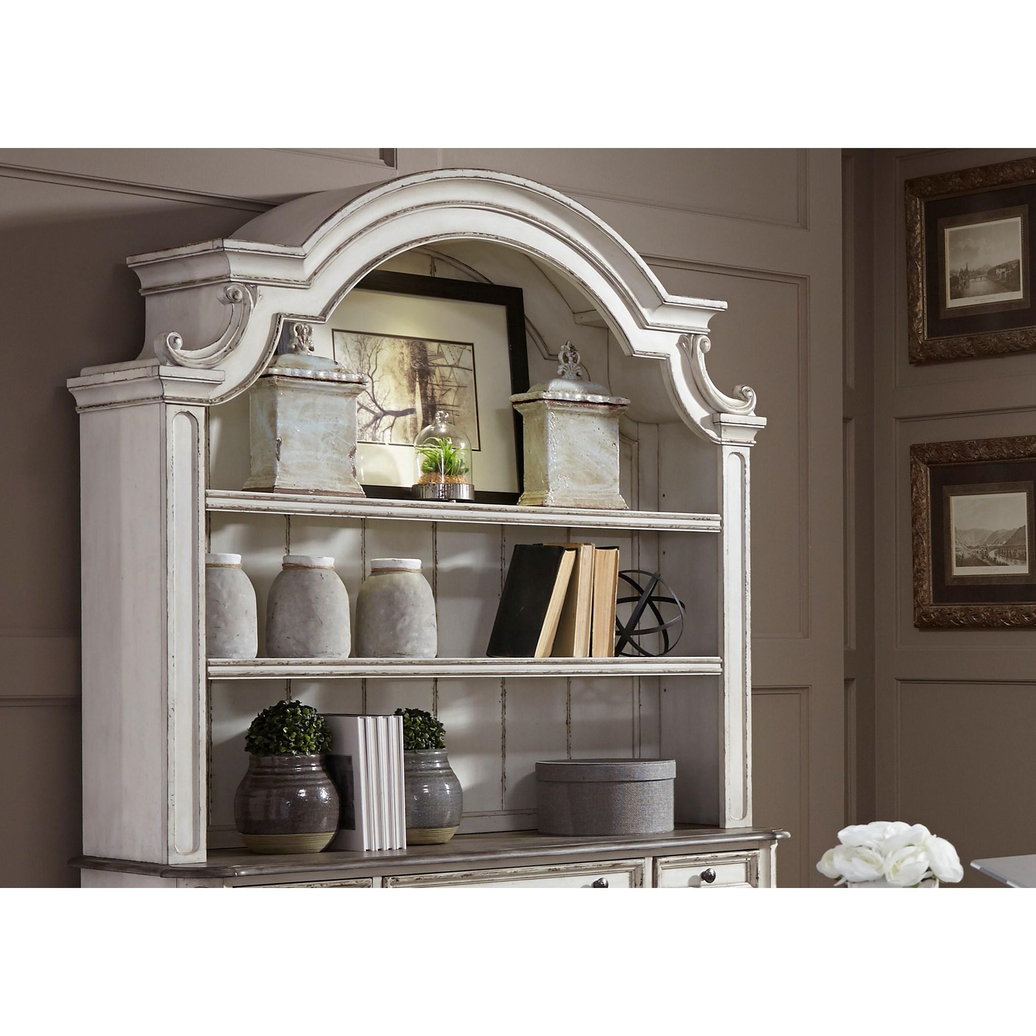 Liberty Furniture Magnolia Manor OfficeCredenza Hutch ...