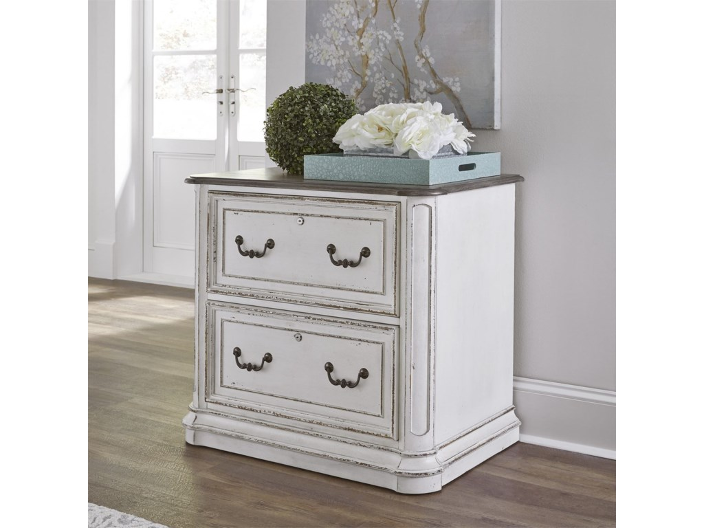magnolia manor office traditional executive media lateral file by liberty furniture - Magnolia Office