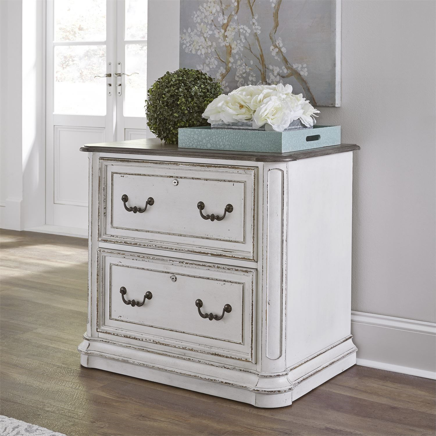 Magnolia Manor Office Traditional Executive Media Lateral File By Liberty  Furniture