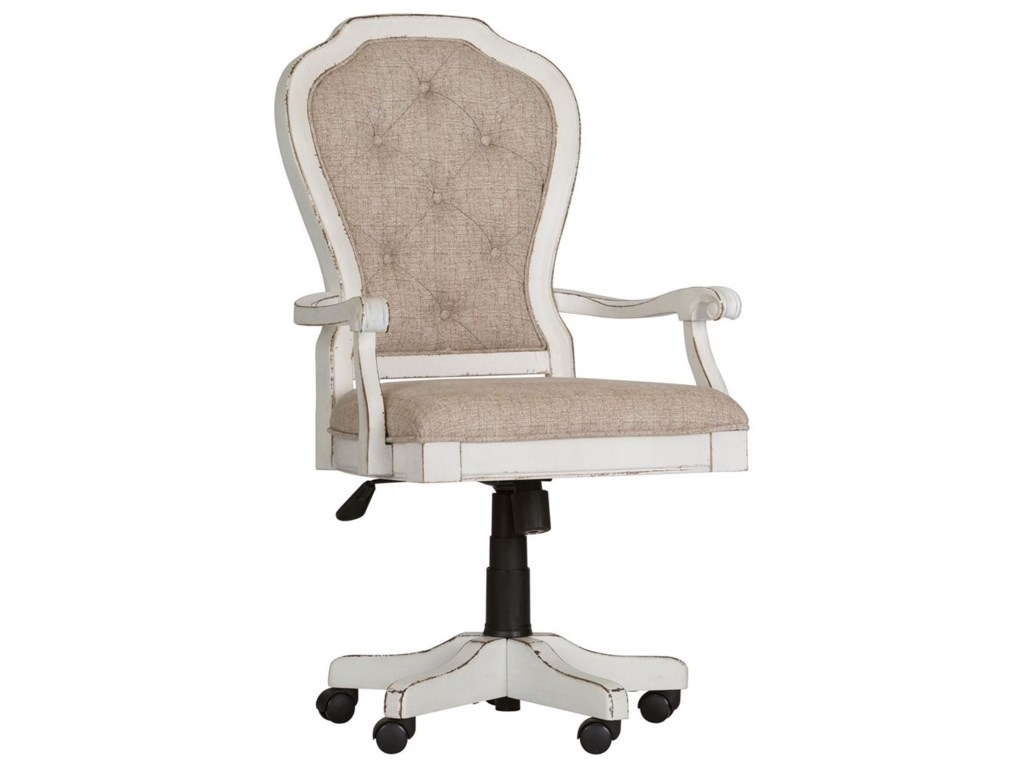 magnolia manor office traditional executive desk chair with button tufted seat back by liberty furniture - Magnolia Office