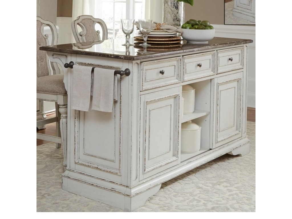 Liberty Furniture Magnolia Manor DiningKitchen Island with Granite