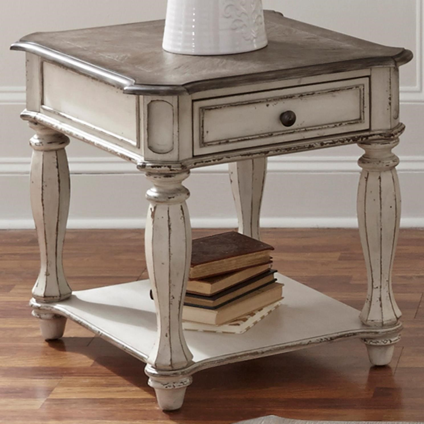 Liberty Furniture Magnolia Manor End Table With Dovetail Drawer