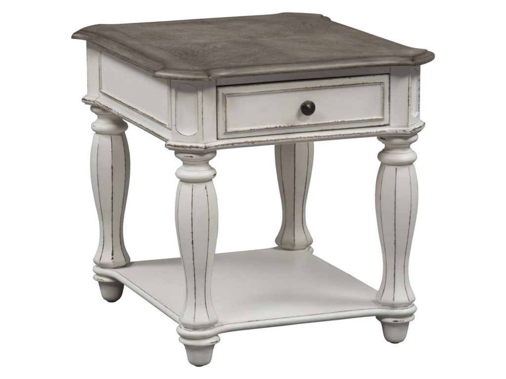 Liberty Furniture Magnolia ManorEnd Table with Dovetail Drawer