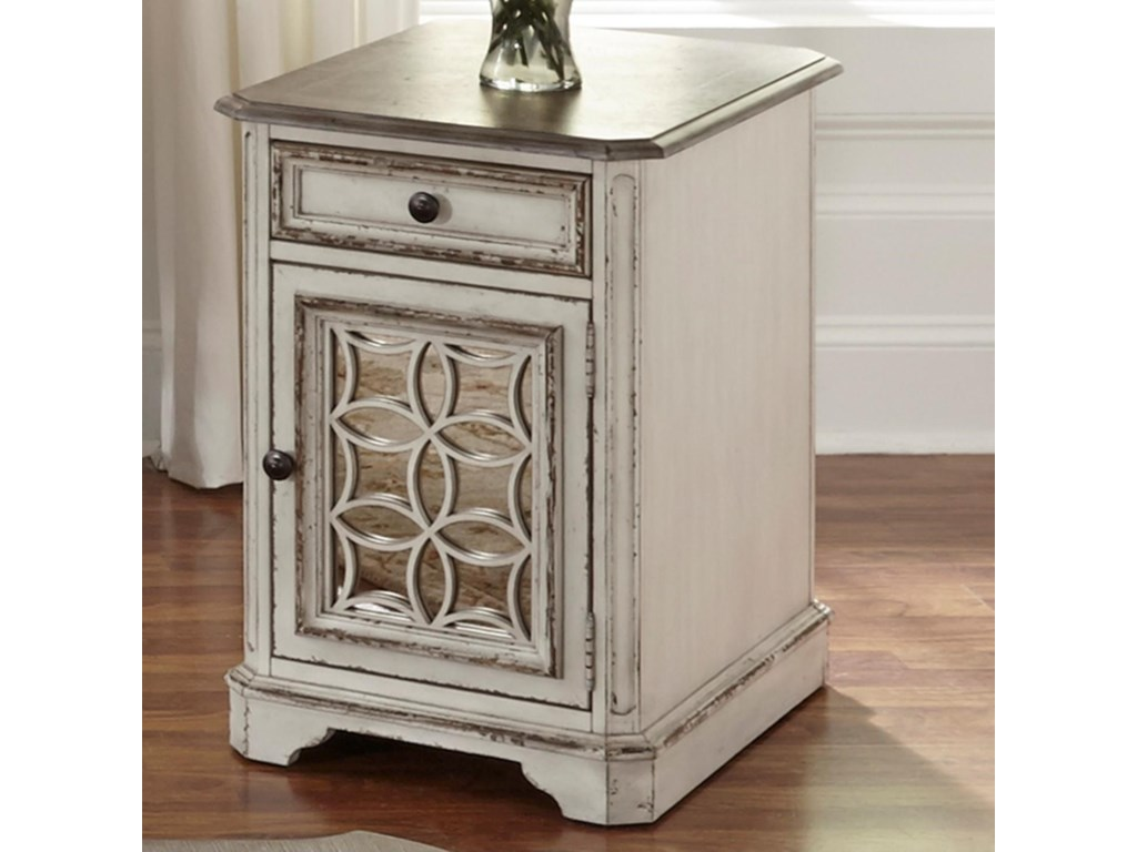 Liberty Furniture Magnolia Manor Chair Side Table With Door Royal