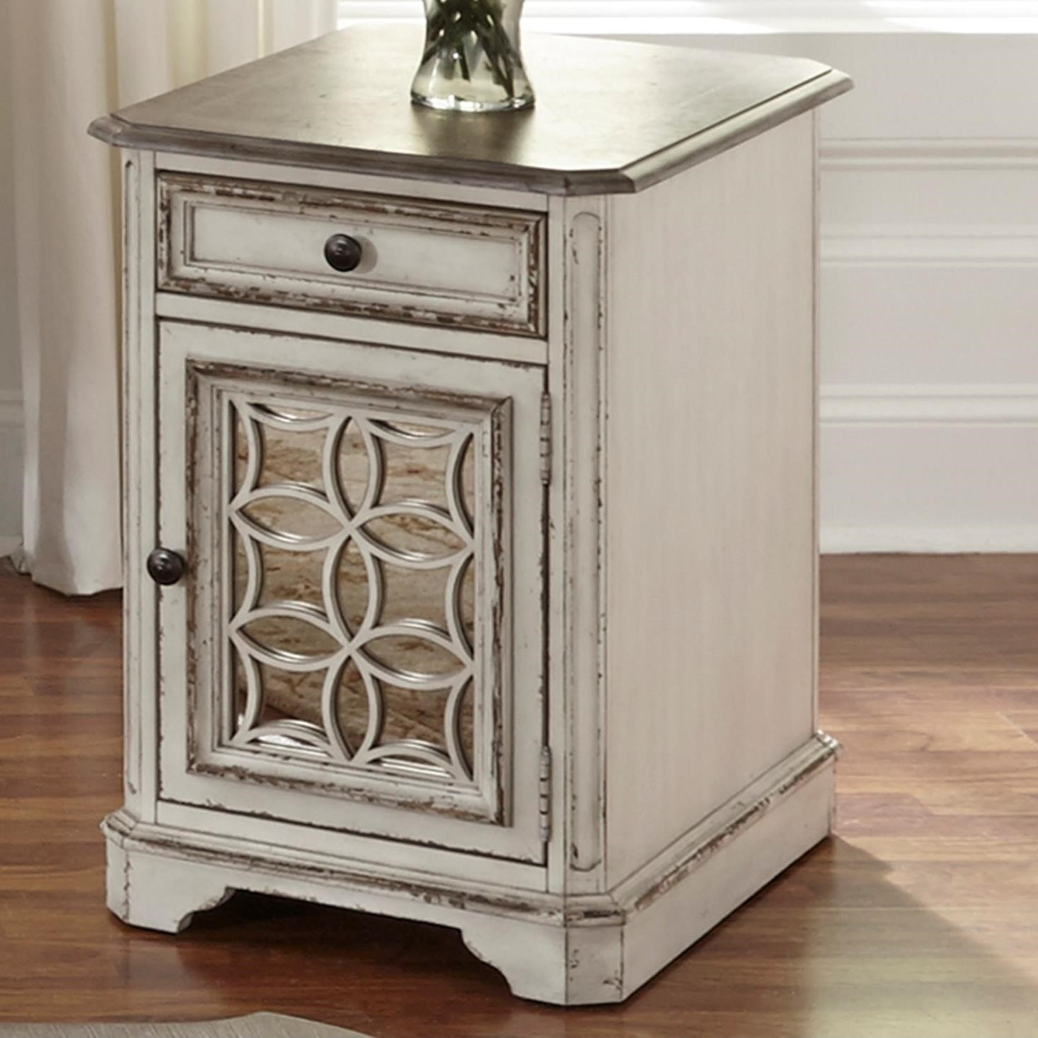 Liberty Furniture Magnolia Manor Chair Side Table With Door