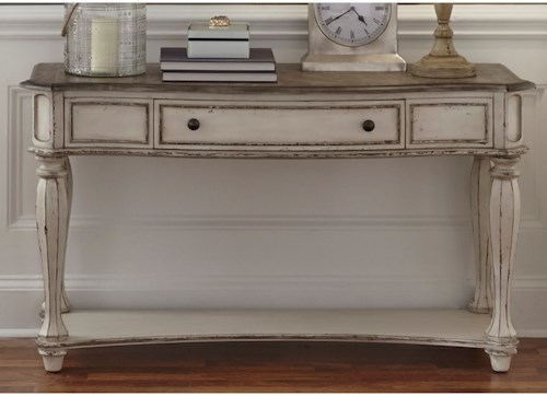 Liberty furniture magnolia manor sofa table with dovetail drawer liberty furniture magnolia manor sofa table with dovetail drawer watchthetrailerfo