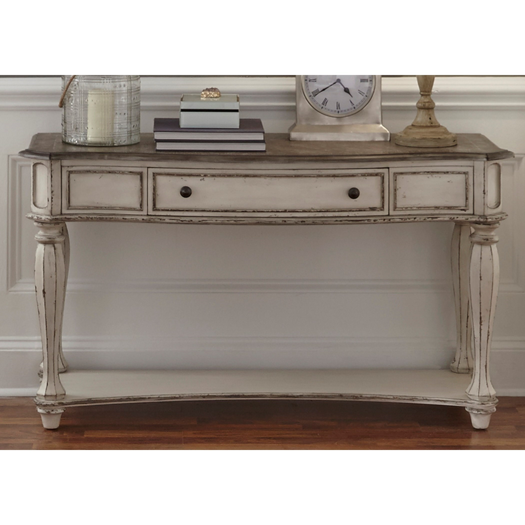 Liberty Furniture Magnolia Manor Sofa Table With Dovetail Drawer