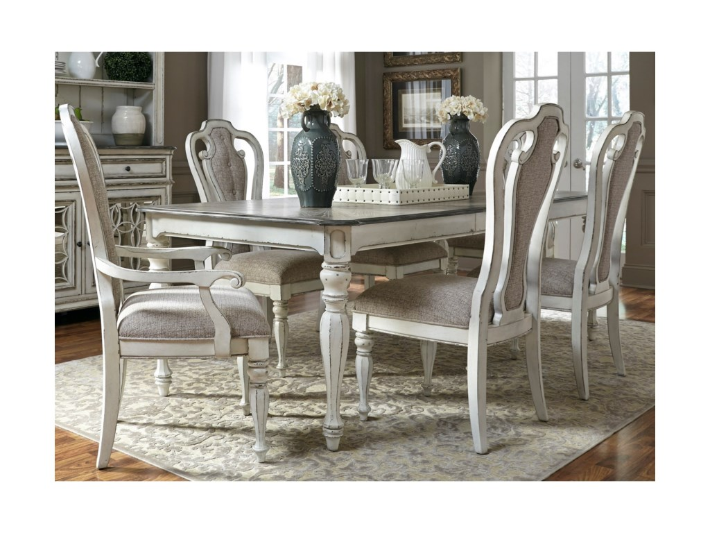 Liberty Furniture Magnolia Manor Dining7 Piece Rectangular Table Set
