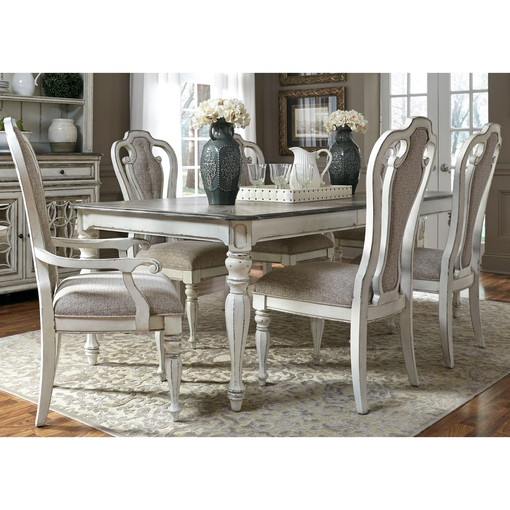 Liberty Furniture Magnolia Manor Dining 7 Piece Rectangular Table Set With  Leaf