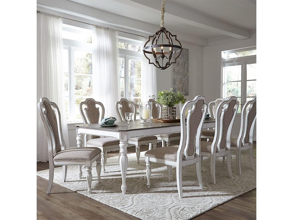 Liberty Furniture Magnolia Manor DiningRectangular Leg Table with Leaf