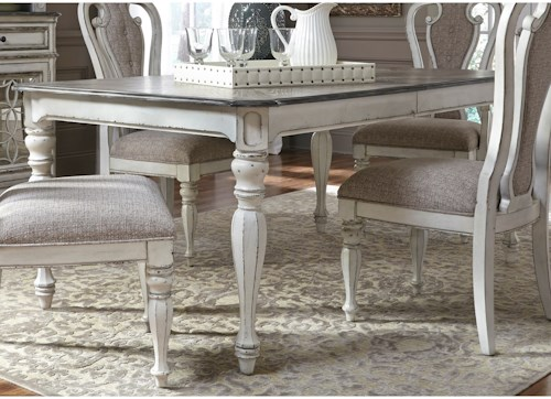 Liberty Furniture Magnolia Manor Dining Rectangular Leg Table with Leaf