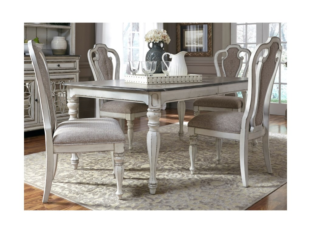 Liberty Furniture Magnolia Manor DiningRectangular Leg Table with Leaf
