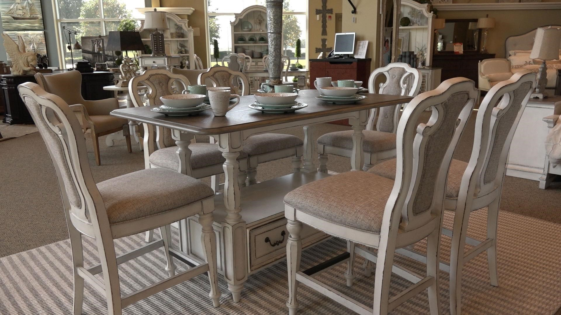 Liberty Furniture Magnolia Manor DiningGathering Table u0026 6 Counter Height Chairs  sc 1 st  Great American Home Store & Liberty Furniture Magnolia Manor Dining GRP-244-GATHERINGTBL-6 ...
