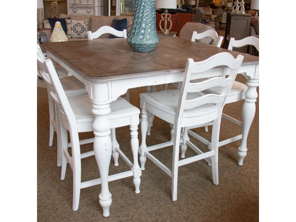 Liberty Furniture Magnolia ManorGathering Table & 6 Counter Chairs