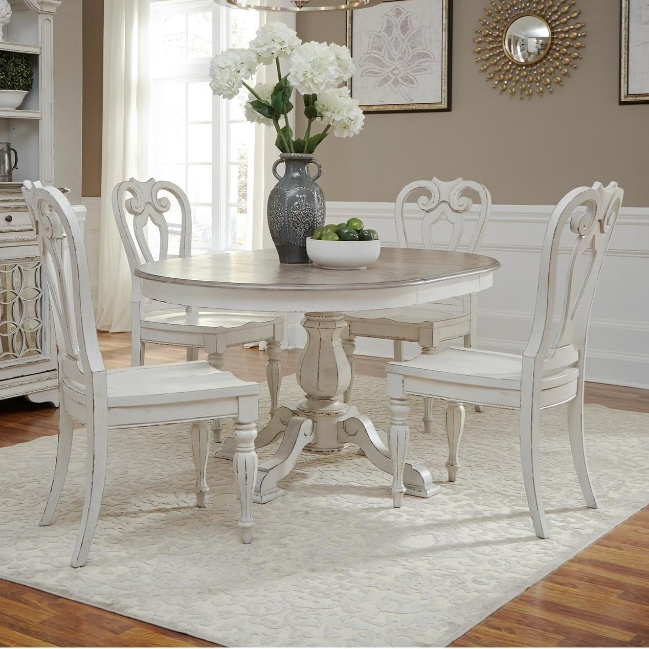 Liberty Furniture Magnolia Manor DiningOval Dining Table U0026 6 Chair Set ...