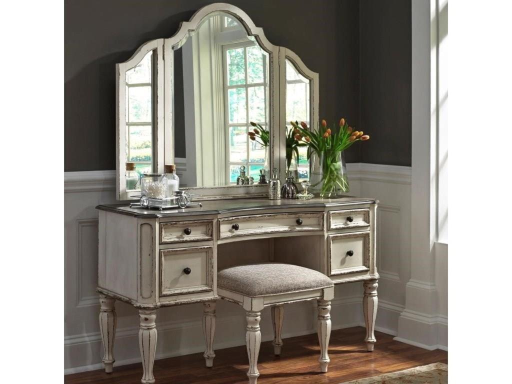 Liberty Furniture Magnolia ManorVanity Desk & Mirror